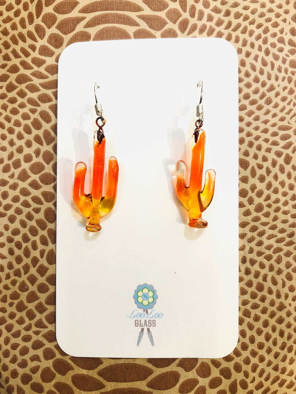 Sacral Chakra Orange Saguaro Earrings
