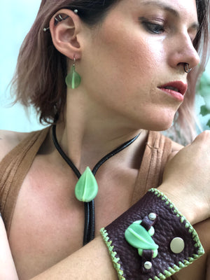 Sweet Leaves Earrings Green