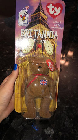 Britannia The Bear (TY) Rare Collectible