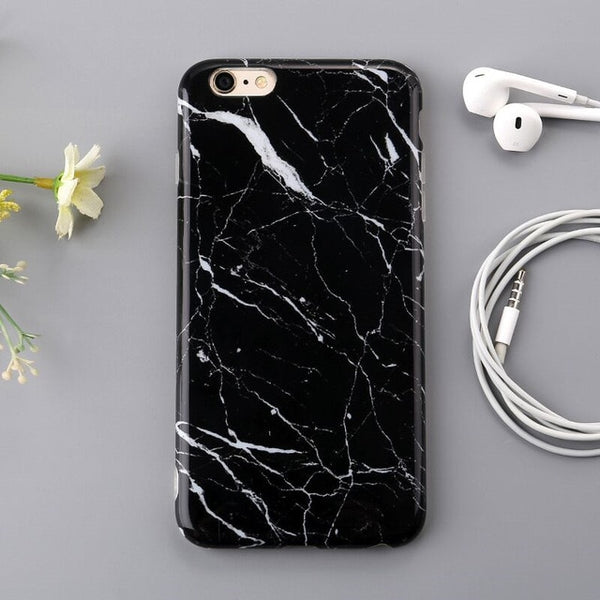 Glossy Marble Veins Phone Case