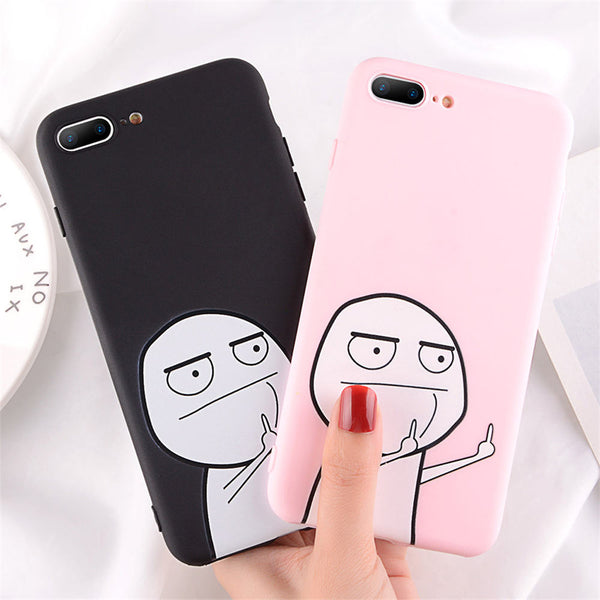 Middle Finger Meme iPhone Cases