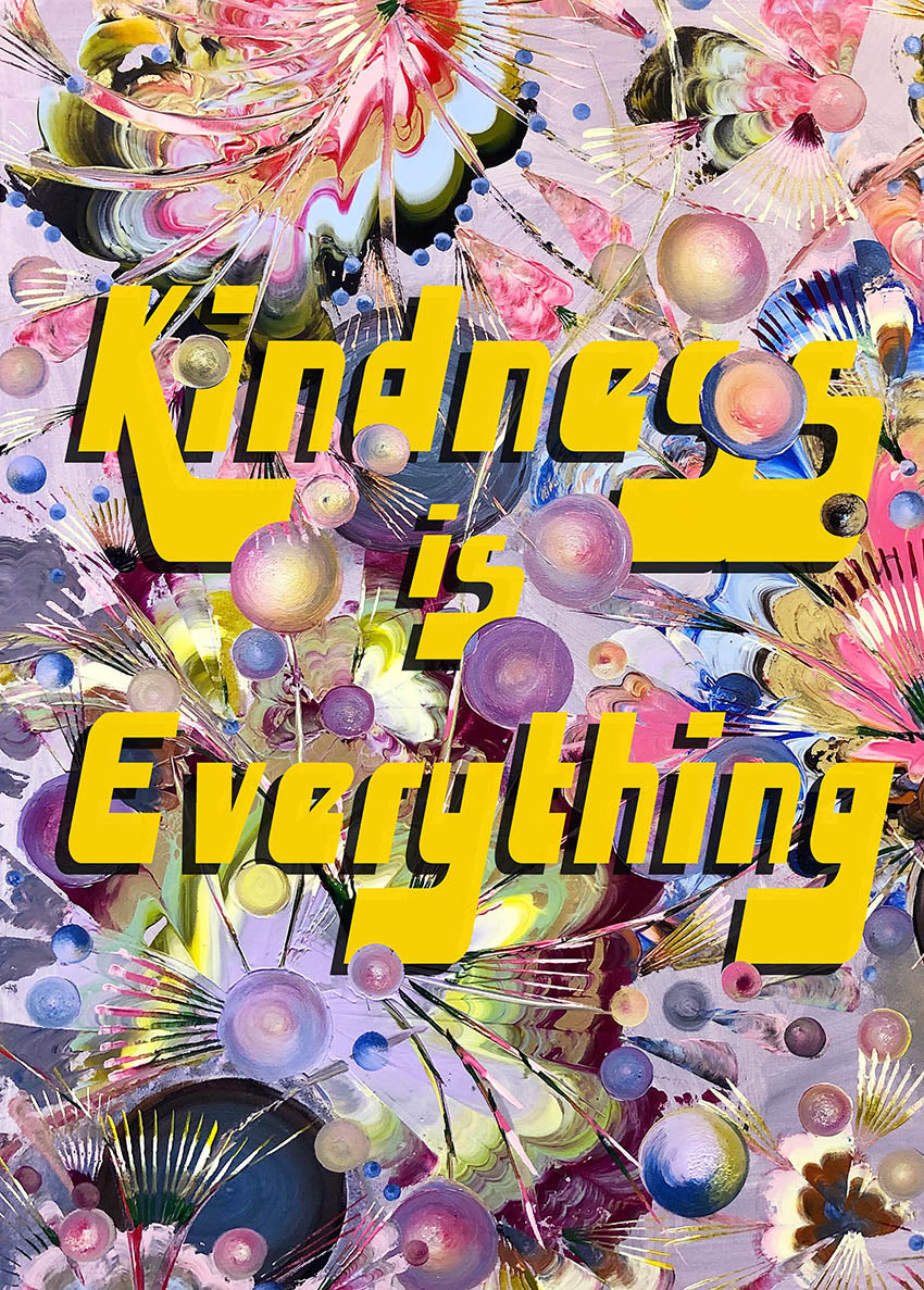 Limited Edition 'Kindness is Everything - Yellow' Fine Art Print - Wall Art