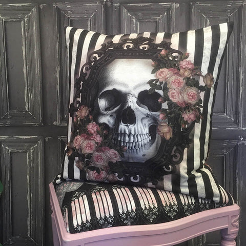 Victorian Gothic Printed Cushion Cover