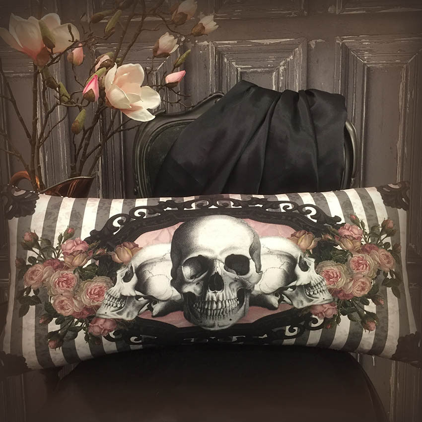 Victorian Gothic Long Printed Cushion Cover