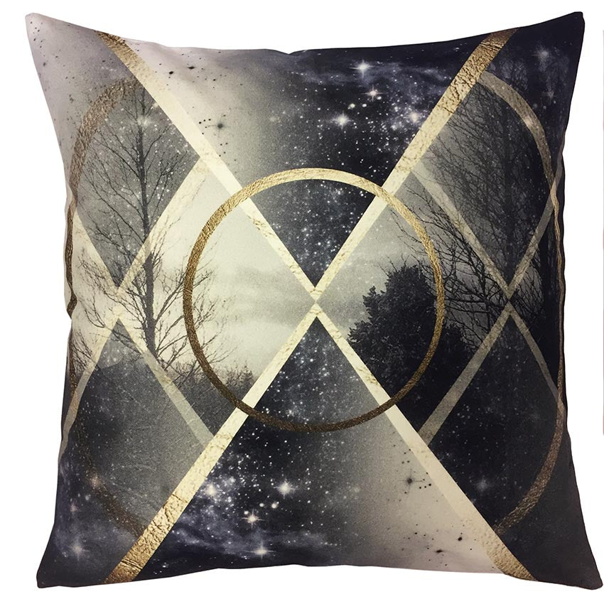 Star Forest Organic Cotton Printed Cushion Cover