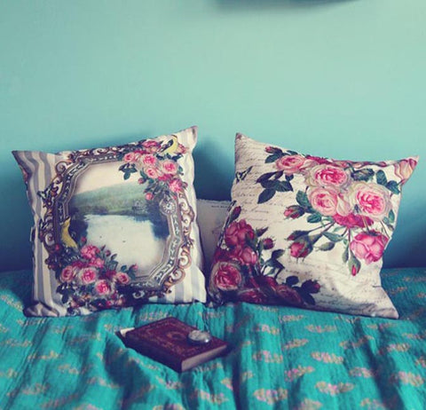 Vintage View Printed Cushion Cover