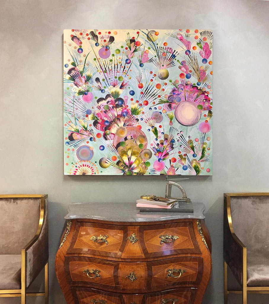 Blooming Confection - Acrylic Painting on Canvas