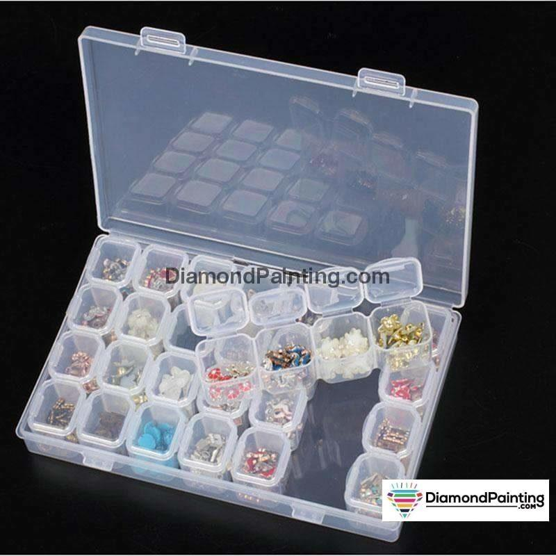 Ships From USA - 28 Pack Bead Diamond Art Storage Box - DiamondPainting.com