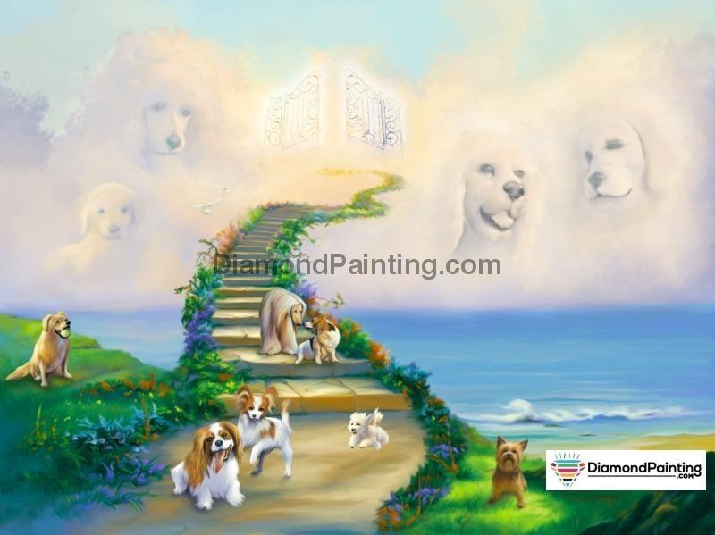 Ships From USA - All Dogs Go To Heaven 50x40cm - DiamondPainting.com