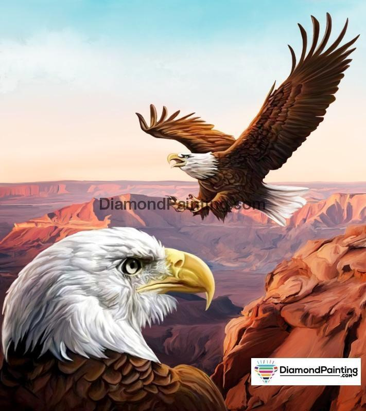 Ships From USA - America The Beautiful Eagle 40x40cm - DiamondPainting.com