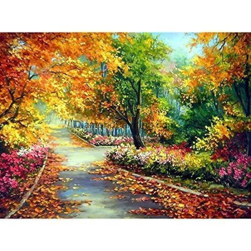 Ships From USA - Autumn Days 40x60cm - DiamondPainting.com
