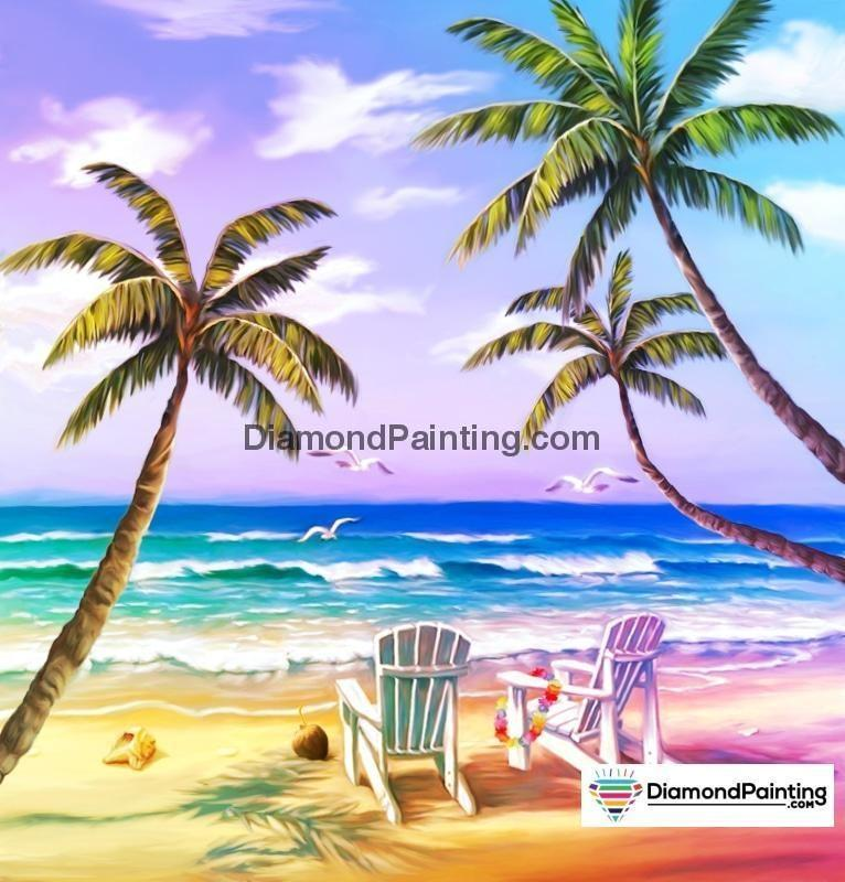 Ships From USA - Beach Dreams 50x50cm - DiamondPainting.com