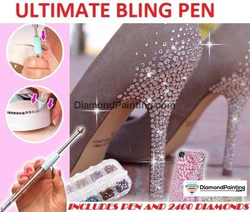 Ships From USA - Diamond Bling Pen w/2400 Crystals - DiamondPainting.com