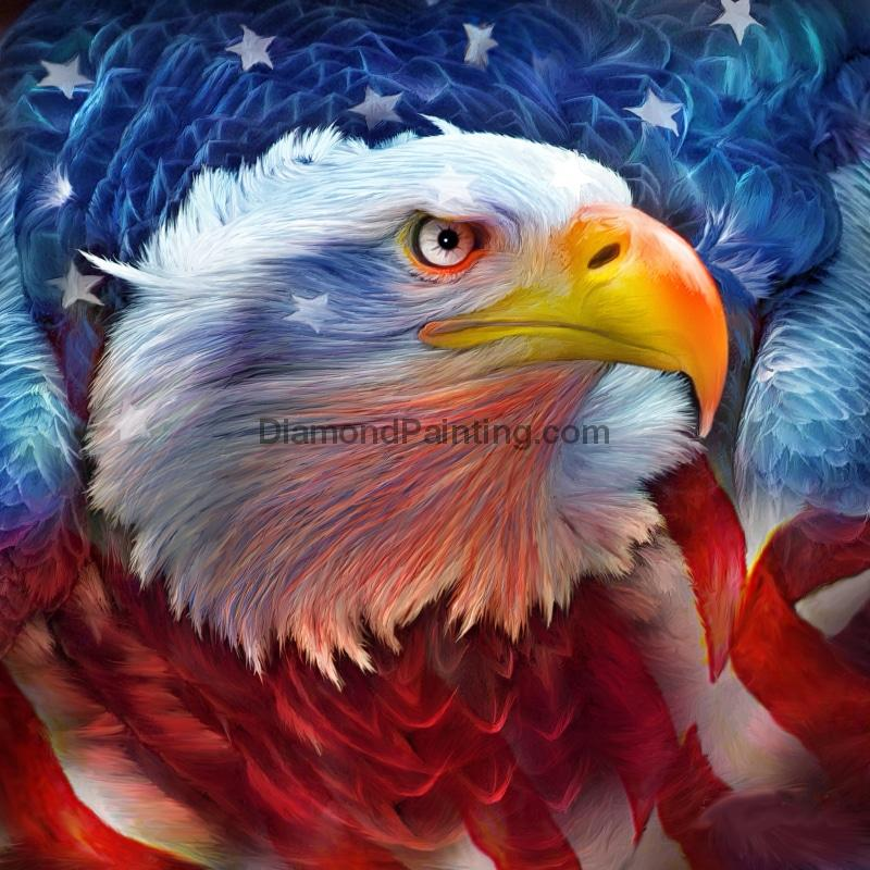 Ships From USA - Eagle Pride 30x30cm - DiamondPainting.com