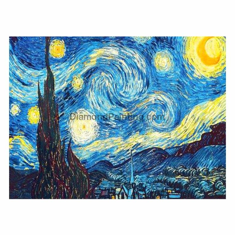 Ships From USA - Starry Night 40x60cm - DiamondPainting.com