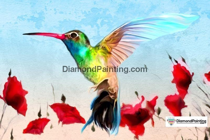 Ships From USA - Sweet Hummingbird 50x40cm - DiamondPainting.com