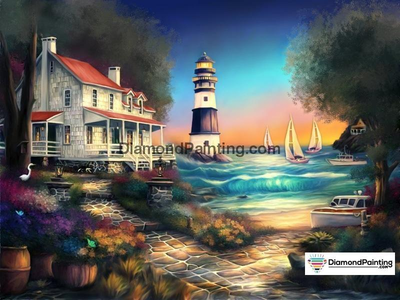 Ships From USA - The Lighthouse 50x40cm - DiamondPainting.com