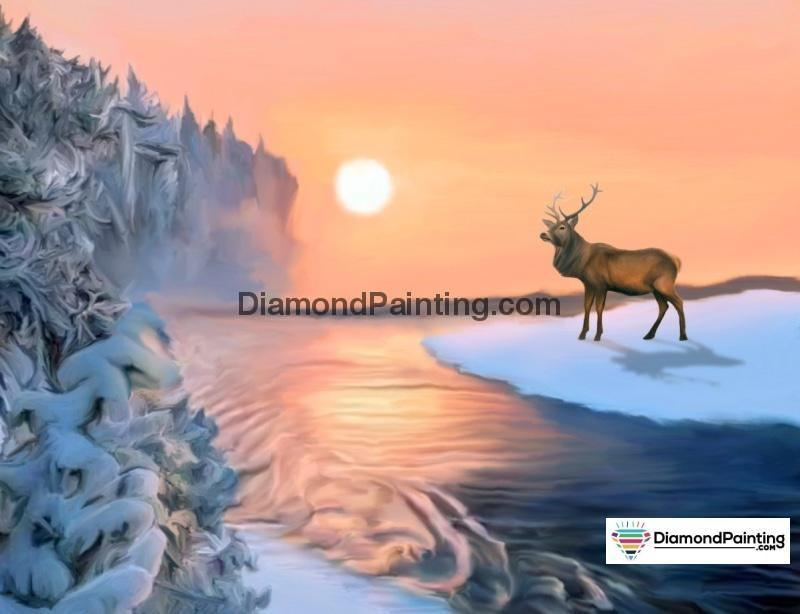 Ships From USA - Winter Sunrise 40x50cm - DiamondPainting.com
