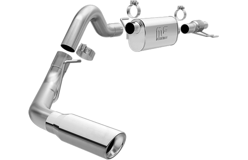 Magnaflow - 19052 - F150 Cat Back Exhaust System T-409 Stainless Steel - Single Tip EcoBoost 2.7L/3.5L (15-19)