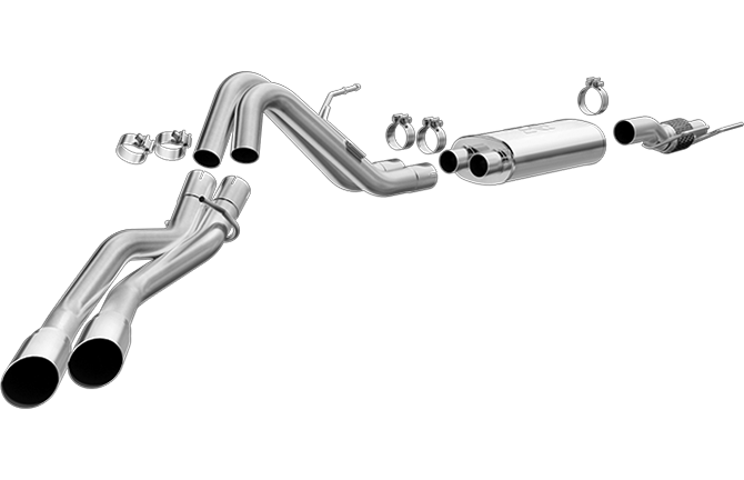Magnaflow - 19053 - F150 MF Series Cat Back Exhaust System T-409 Stainless Steel EcoBoost 2.7L/3.5L (15-19)