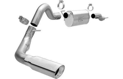 Magnaflow - 19079 - F150 Cat Back Exhaust System T-409 Stainless Steel - Single Tip 5.0L V8 (15-19)