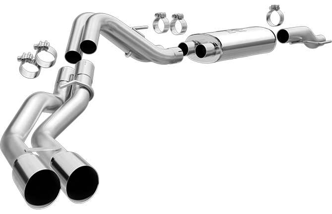 Magnaflow - 19080 - F150 Cat Back Exhaust System T-409 Stainless Steel 5.0L V8 (15-19)