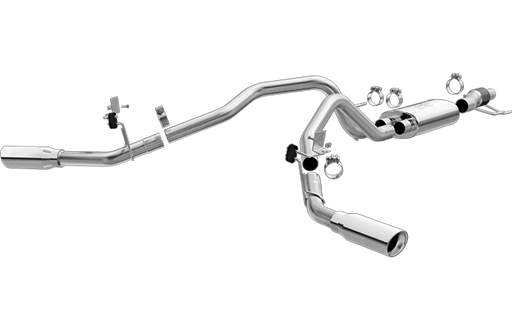 Magnaflow - 19198 - F150 Cat Back Exhaust System T-409 Stainless Steel - Dual Exit EcoBoost 2.7L/3.5L (15-19)