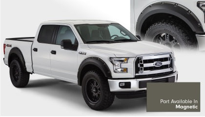 Bushwacker - 20935-6A - F-150 Pocket Style Fender Flares 4pc Front & Rear - Magnetic Sterling Grey (15-17)