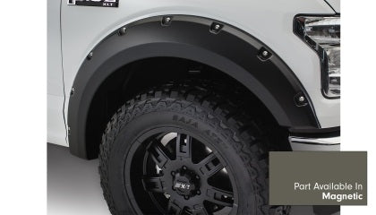 Bushwacker - 20945-6A - F-150 Pocket Style Fender Flares 4pc - Magnetic Sterling Grey (18+)