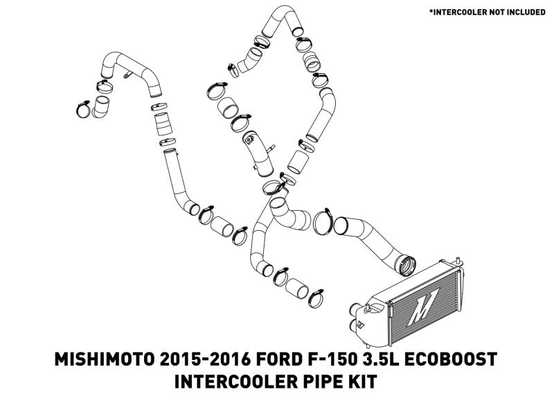Mishimoto - MMICP-F35T-15KP - F150 Intercooler Pipe Kit EcoBoost 3.5L (15-16)
