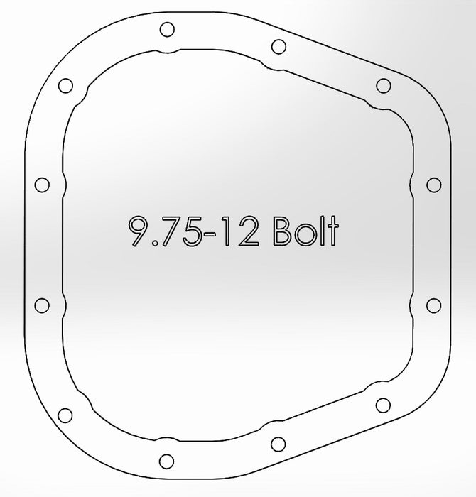 aFe - 46-70152 - F150 Rear Differential Cover (Machined) 12 Bolt 9.75in (15-17)
