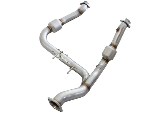 aFe - 48-43008 - F150 Street Series Twisted Steel Y-Pipe 3in to 3.5in Stainless Steel Exhaust EcoBoost 2.7L (15-19)