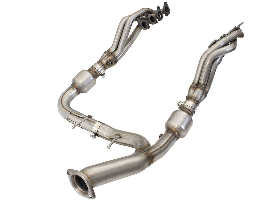 aFe - 48-43015-YC - F150 Street Series Twisted Steel Long Tube Header & Y-Pipe 5.0L (15-19)