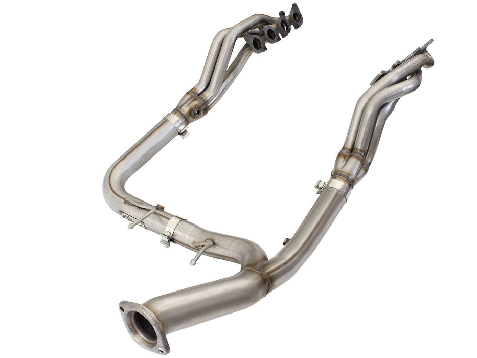 aFe - 48-43015-YN- F150 Race Series Twisted Steel Long Tube Header & Y-Pipe 5.0L (15-19)
