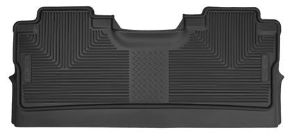 Husky Liners - 53471 - F150 SuperCrew X-Act Contour 2nd Seat Rear Floor Liners Black (15-19)