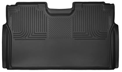 Husky Liners - 53491 - F150 SuperCrew X-Act Contour Full Coverage 2nd Seat Rear Floor Liners Black (15-19)