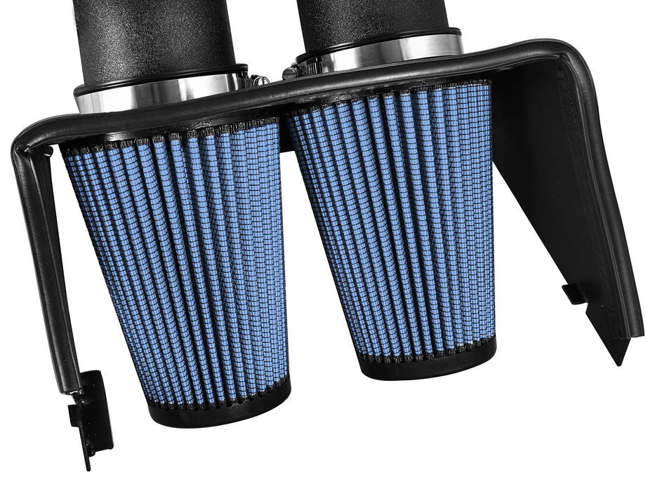 "aFe - 54-12642-1B - F150 Magnum FORCE Dual 3.5"" Stage-2 Cold Air Intake System EcoBoost 2.7L/3.5L (15-17)"