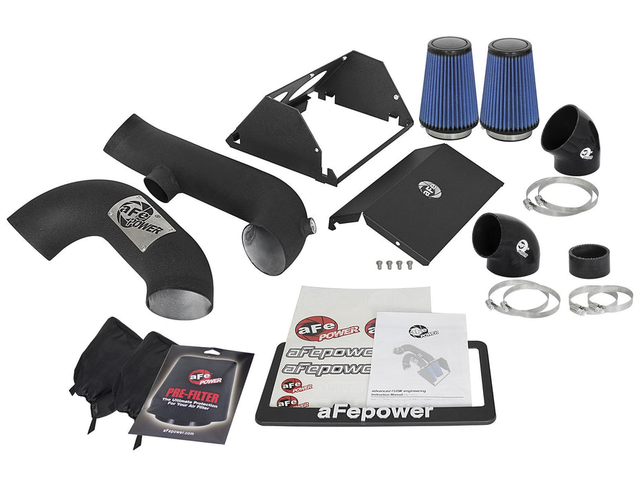 "aFe - 54-12882-B - F150 Magnum FORCE Dual 3.5"" Stage-2 ""Super Raptor"" Cold Air Intake System EcoBoost 2.7L/3.5L (17-19)"