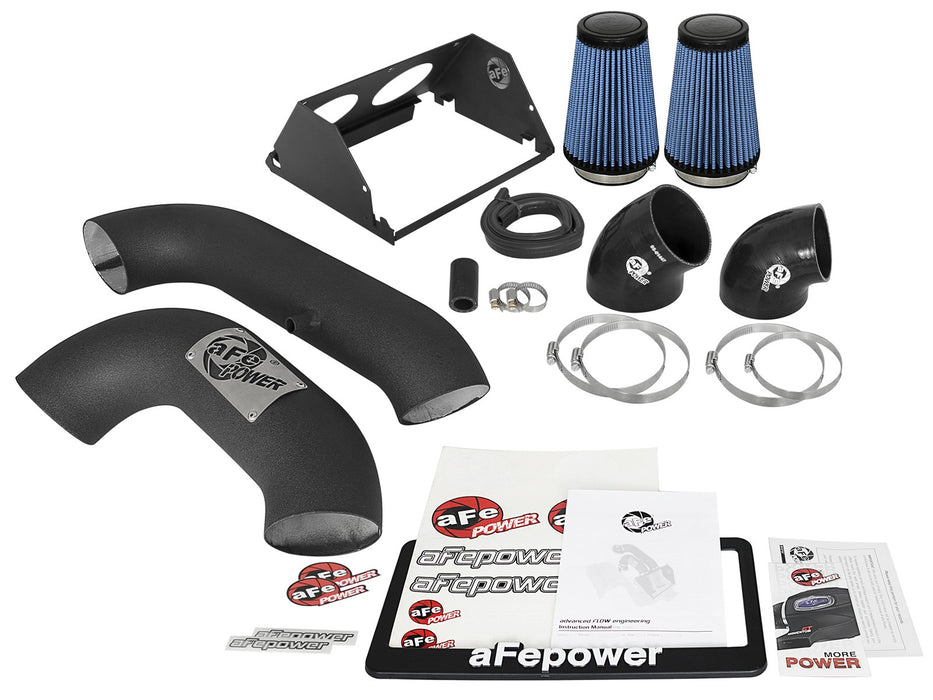 "aFe - 54-12972-B - F150 Magnum FORCE Dual 3.5"" Stage-2 XP Cold Air Intake System EcoBoost 3.5L (17+)"