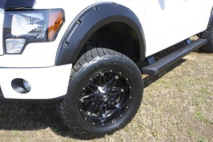 LUND - RX119S - F-150 Rivet Style Elite Fender Flares Black Smooth 4pc (15-17)