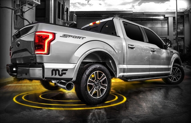 Magnaflow - 19335 - F150 Cat Back Exhaust System T-409 Stainless Steel - Single Exit EcoBoost 2.7L/3.5L (15-19)