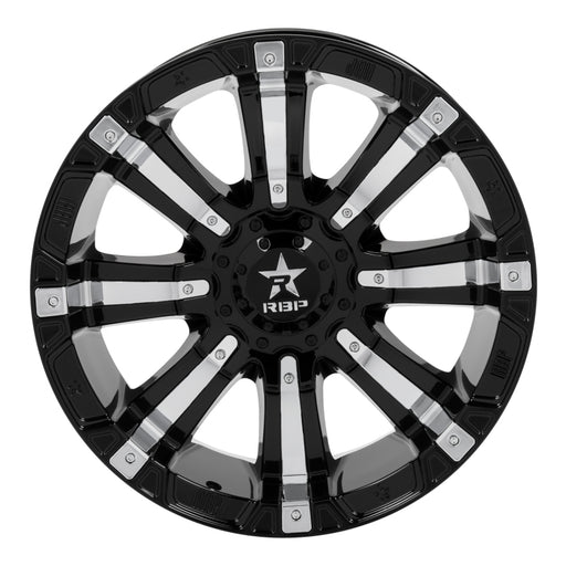 RBP -  94R-2010-70-12BP - F150 94R 20x10 Black w/Chrome Inserts Wheel