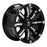 RBP - 94R-2010-70-25BP- F150 94R 20x10 Black w/Chrome Inserts Wheel