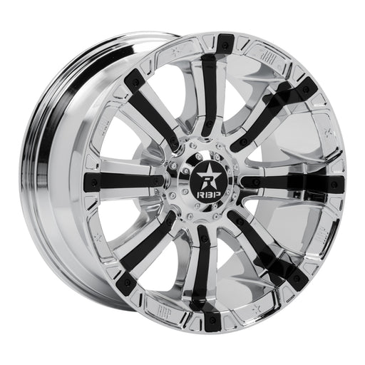 RBP - 94R-2010-70-25C - F150 94R 20x10 Chrome w/Black Inserts Wheel