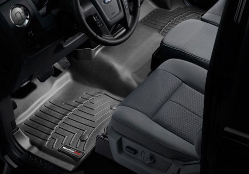 WeatherTech - 446971 - F-150 Front FloorLiners - Black (SuperCrew / SuperCab 15-19)