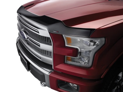 WeatherTech - 55139 - F-150 Low Profile Hood Protector Deflector Dark Smoke Raptor (17+)