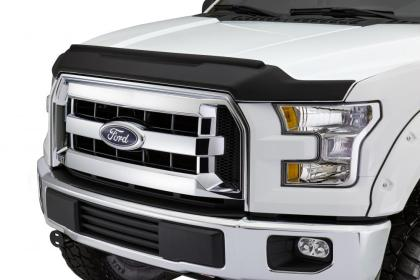 AVS - 436096 - F-150 Low Profile Aeroskin II Textured Hood Shield - Matte Black (15-19)