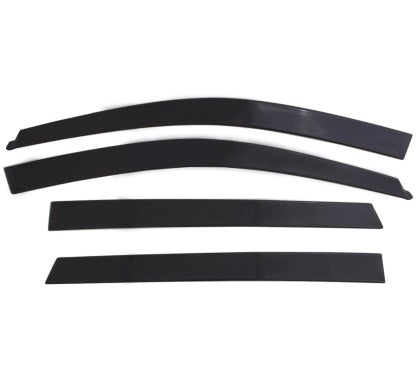 AVS - 774061 - F150 SuperCab Ventvisor Low Profile Window Deflectors Black Matte 4pc (15-19)