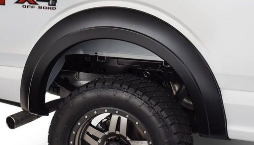 Bushwacker - 20094-02 - F-150 Extend-A-Fender Style Fender Flares Black Smooth 2pc Rear (15-17)