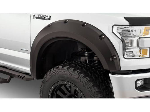 Bushwacker - 20099-02 - F-150 Max Coverage Pocket Style Fender Flares Black Smooth 2pc Front (15-17)